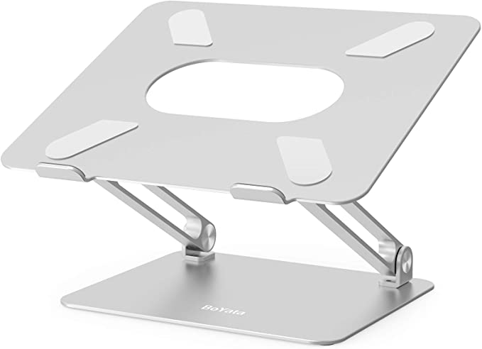 BoYata Laptopständer Multi-Angle-Standfuß mit Heat-Vent, Aluminium 10-17 Zoll
